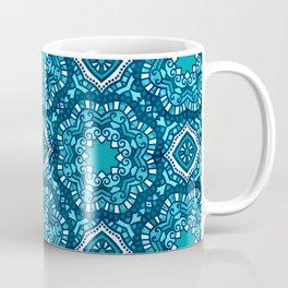 Moroccan Tile Pattern - Turquoise Coffee Mug