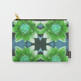 Blue Tropical Bromiliad Panel Carry-All Pouch