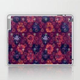 Lotus flower - fire on mulberry woodblock print style pattern Laptop & iPad Skin
