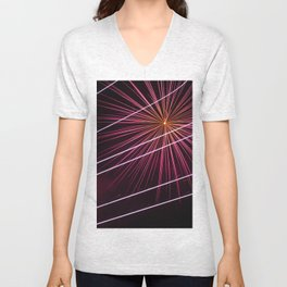 Fireworks display Unisex V-Neck