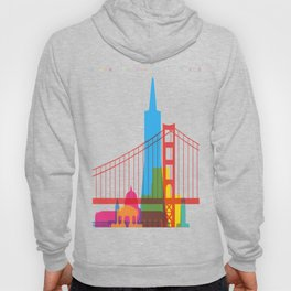 Shapes of San Francisco. Accurate to scale Hoody