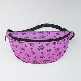 Paw Prints Pink Purple Gradient Fanny Pack