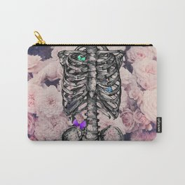 Roses and a Skeleton Carry-All Pouch