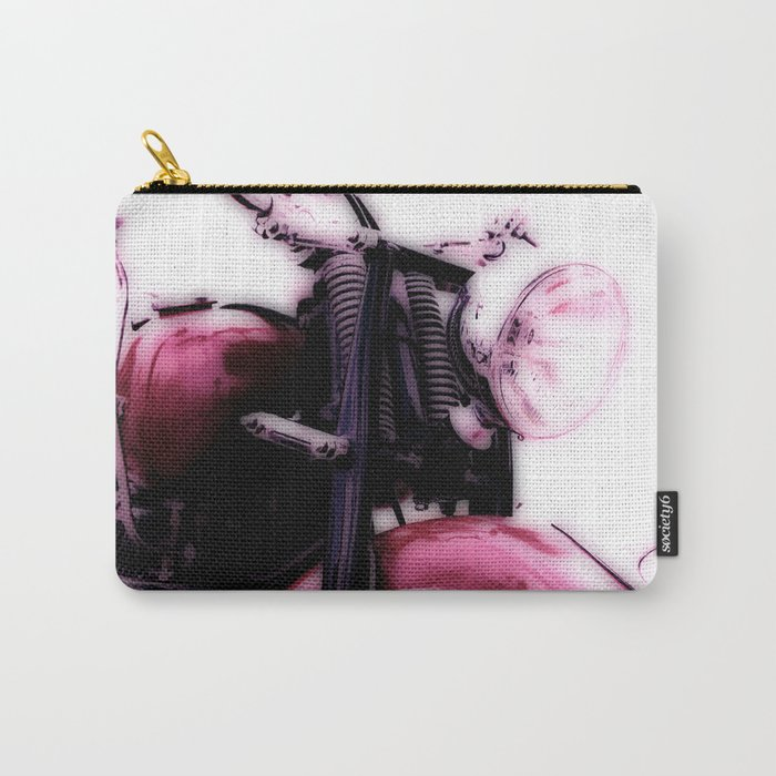 Motorcycle-Poster Carry-All Pouch