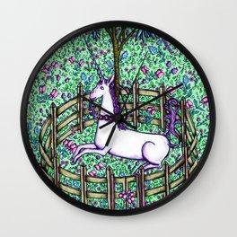 Medieval Unicorn Garden Wall Clock