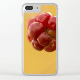 Red raspberry #1 Clear iPhone Case