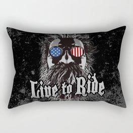 Live to Ride Rectangular Pillow