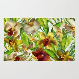 My tropical Orchid Garden- Jungle Pattern Rug