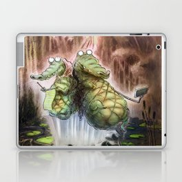 Crocodile selfies Laptop & iPad Skin