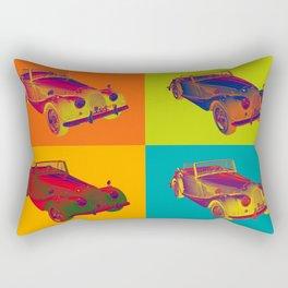 1964 Morgan Plus 4 Convertible Pop Art Rectangular Pillow