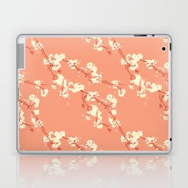Cherry Blossoms in Coral Laptop & iPad Skin