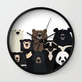 Bears of the world Wall Clock