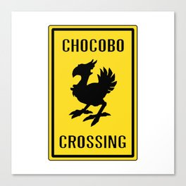 FINAL FANTASY: WARNING, CHOCOBO CROSSING Canvas Print