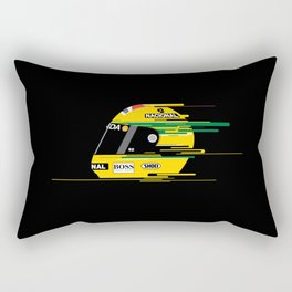 Ayrton Senna Helmet Rectangular Pillow