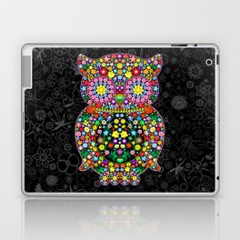 Owl Zentangle Floral   Laptop & iPad Skin