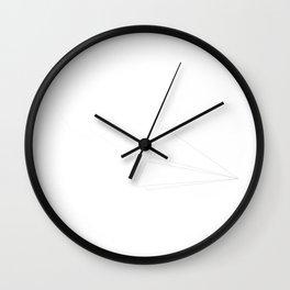 Paper Plane Wall Clock