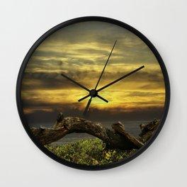 Oregon Coast - Golden Hour Wall Clock