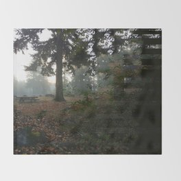 Divided In Fall (There Are No Picnics Here) Throw Blanket