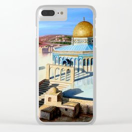 Dome of the rock-JERUSALEM Clear iPhone Case