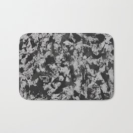 Black Ink on White Background #2 Bath Mat