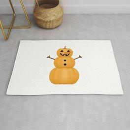 Pumpkin Snowman Rug