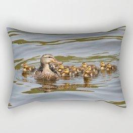 Mallard duck and ducklings Rectangular Pillow