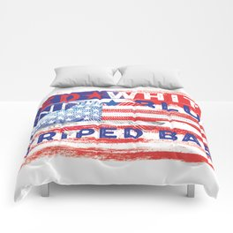 Fishing American Flag Striped Bass Tee Comforters