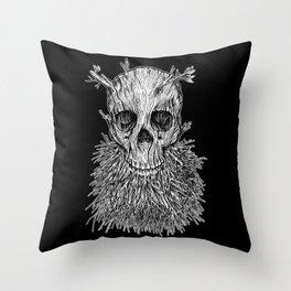 Lumbermancer B/W Throw Pillow