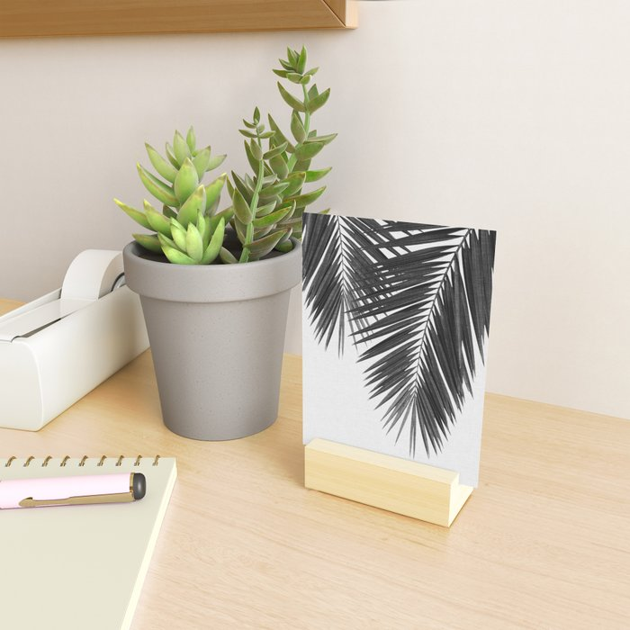 Palm Leaf Black & White II Mini Art Print
