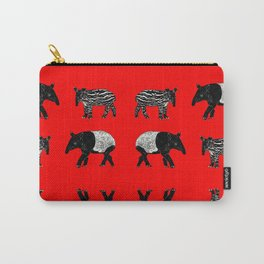 Dance of the Tapirs in red Carry-All Pouch