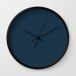Cloud Contemplation ~ Dark Blue Wall Clock