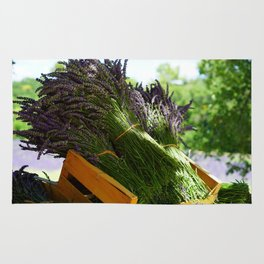 Lavender Bunches in Provence France Rug