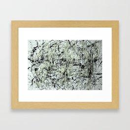 Abstract Jackson Pollock Painting Original Art Titled: Black vs White  Framed Art Print