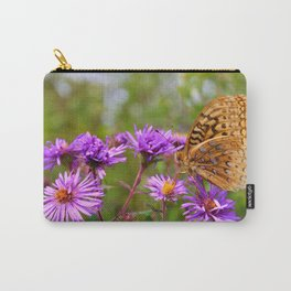 Butterfly and Asters Carry-All Pouch