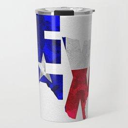 Texas Typographic Flag Map Art Travel Mug
