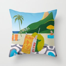GLOBO COOKIES IN RIO Throw Pillow