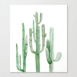 Three Amigos White + Green by Nature Magick Canvas Print