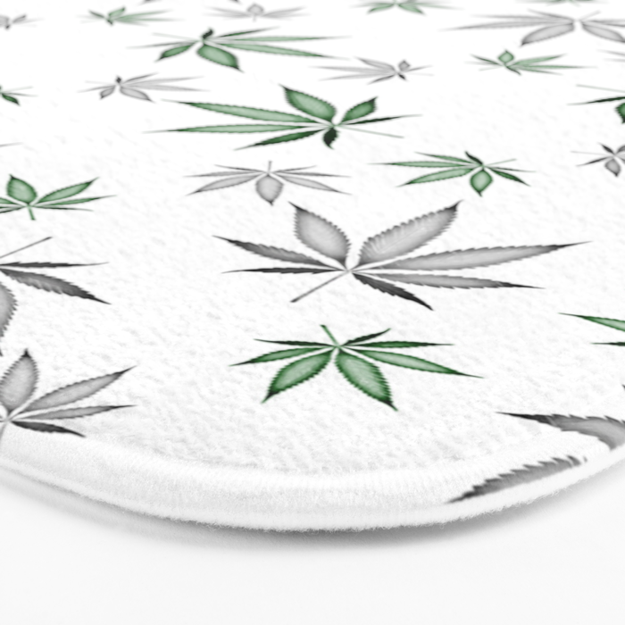 Weed Illustrated Bath Mat