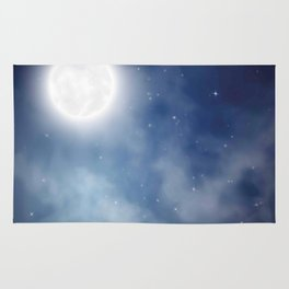 Night sky moon Rug