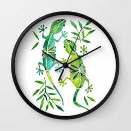 Geckos – Green Palette Wall Clock