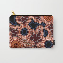 Aboriginal Art Authentic - Pathways Carry-All Pouch