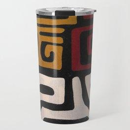 African Mudcloth Print Travel Mug