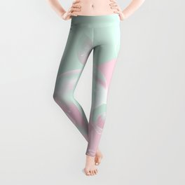 Two colored background with apple Leggings