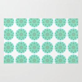 Collage of green madalas Rug