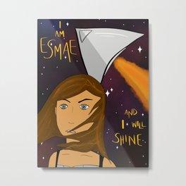 I am Esmae / A Spark of White Fire art Metal Print