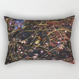 Robin in Cherry Tree Rectangular Pillow