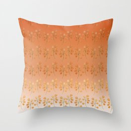 """Cactus flowers in soft orange"" Throw Pillow"