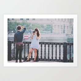 Young Love Art Print