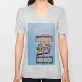 Vintage Neon Sign - The Spanish Trail -  Tucson Unisex V-Neck