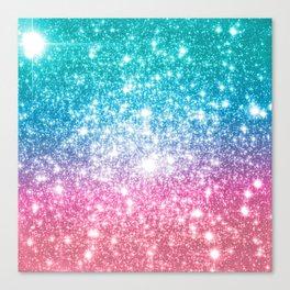 Mermaid Galaxy Sparkle Stars Canvas Print